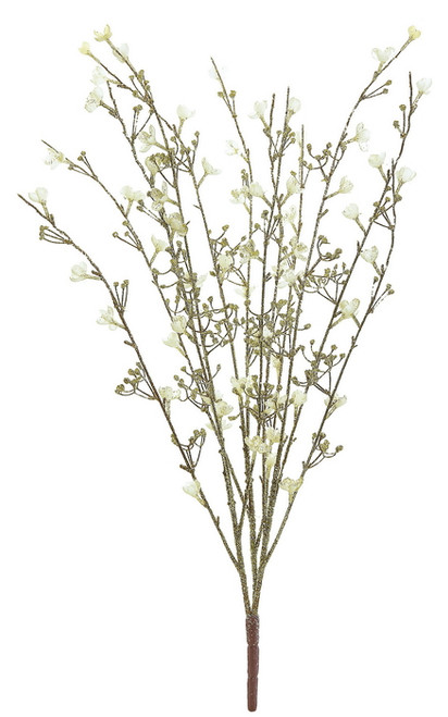 """32"""" Brown and Gold Glittered Blossom Bush Artificial Christmas Spray - IMAGE 1"""