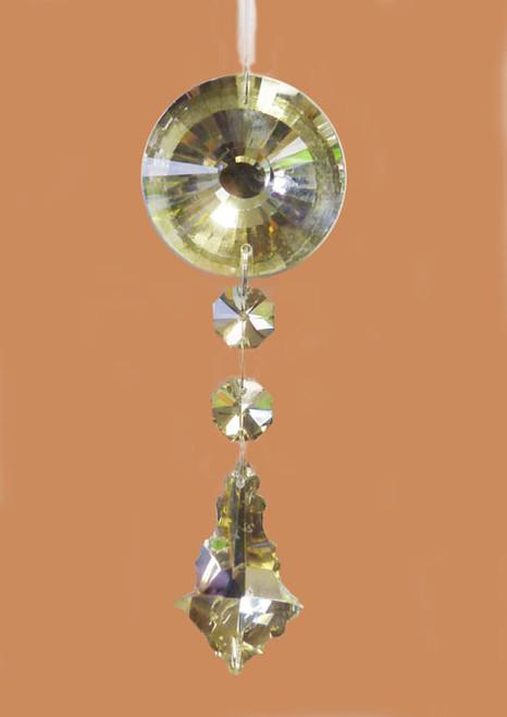 "5.5"" Champagne Glass Dangling Pendant Christmas Ornament - IMAGE 1"