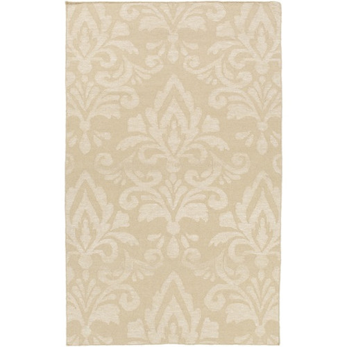 6' x 9' Extravagant Brown Hand Woven Floral Rectangular Wool Area Throw Rug - IMAGE 1