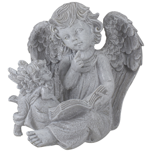 """8.25"""" Reading Angels with Book Outdoor Garden Statue - IMAGE 1"""