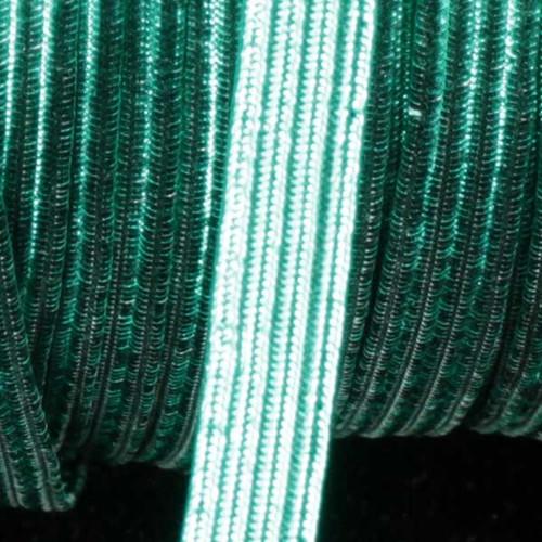 "Green Contemporary Braided Elastic Trim 0.25"" x 108 Yards - IMAGE 1"