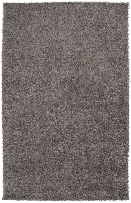8' x 10' Contemporary Solid Ash Gray Hand Woven Area Throw Rug - IMAGE 1