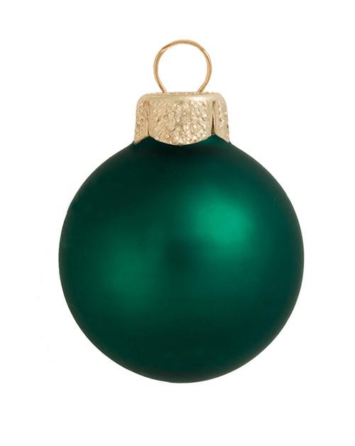 "4ct Matte Emerald Green Glass Ball Christmas Ornaments 4.75"" (120mm) - IMAGE 1"