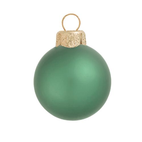 "Matte Soft Green Glass Ball Christmas Ornament 7"" (180mm) - IMAGE 1"