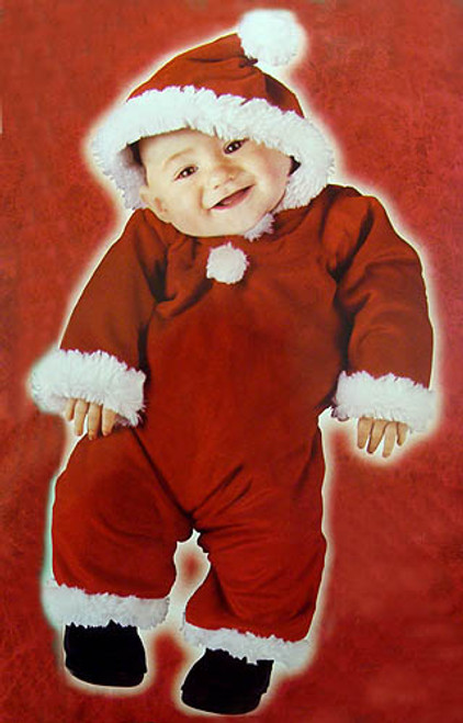 Red and White Santa's Little Helper Infant Christmas Costume - Small - IMAGE 1