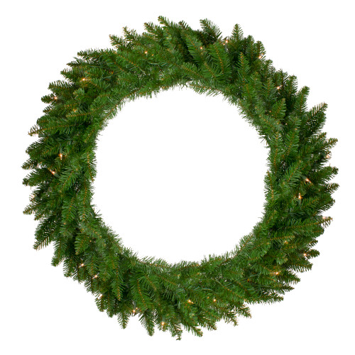 "36"" Pre-Lit Eastern Pine Artificial Christmas Wreath - Clear Lights - IMAGE 1"