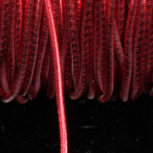 """Red Braided Elastic Craft Cord 0.25"""" x 218 Yards - IMAGE 1"""