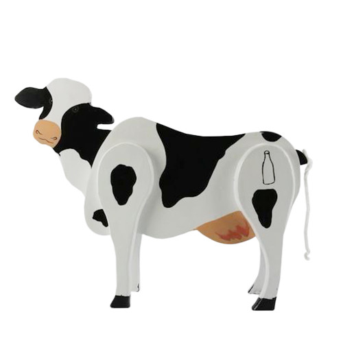Ms. Cow Wooden Candy Dispenser Funny Toy - Poops Candy! - IMAGE 1
