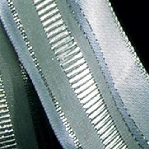 """Gray and Silver Woven Taffeta Wired Craft Ribbon 1.5"""" x 27 Yards - IMAGE 1"""