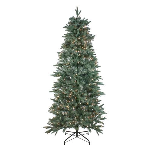 14' Pre-Lit Washington Frasier Fir Slim Artificial Christmas Tree - Clear Lights - IMAGE 1