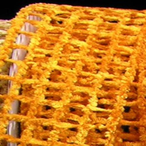 "Yellow Netting Wired Craft Ribbon 2.5"" x 20 Yards - IMAGE 1"
