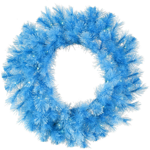 Pre-Lit Cashmere Artificial Christmas Wreath - 30-Inch, Clear Lights - IMAGE 1