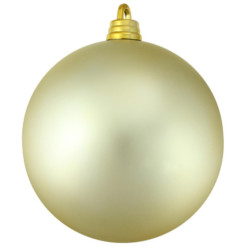 "Champagne Gold Shatterproof Matte Christmas Ball Ornament 12"" (300mm) - IMAGE 1"