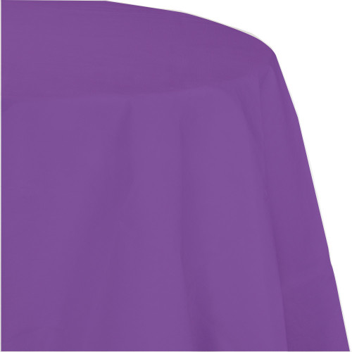 """Club Pack of 12 Amethyst Purple Disposable Tissue/Poly Octy-Round Picnic Party Table Covers 82"""" - IMAGE 1"""