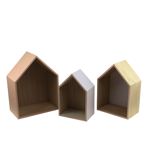 """Set of 3 Basic Luxury Shadow Boxes with Peach Accents 11.5 - 15.5"""" - IMAGE 1"""
