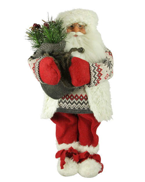 """18"""" Red and White Nordic Santa Claus Christmas Tabletop Figurine - IMAGE 1"""