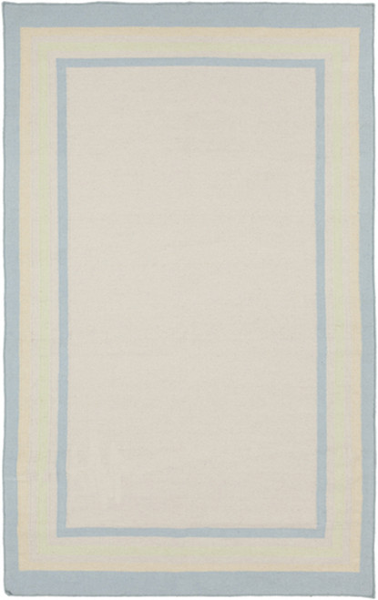 5' x 8' Blue and Pink Contemporary Hand Woven Area Throw Rug - IMAGE 1