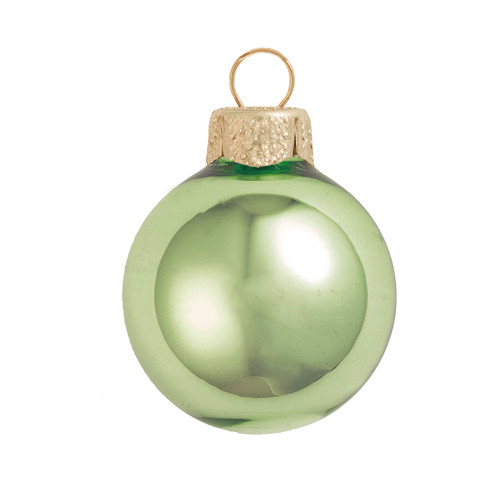 "Shiny Lime Green Glass Ball Christmas Ornament 7"" (180mm) - IMAGE 1"
