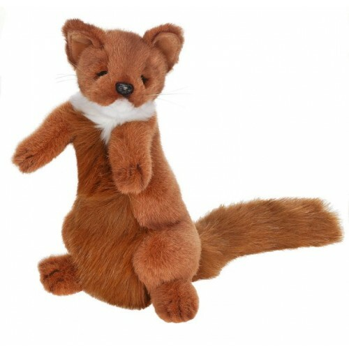 """Set of 3 Brown and White Handcrafted Plush Weasel Stuffed Animals 11.75"""" - IMAGE 1"""