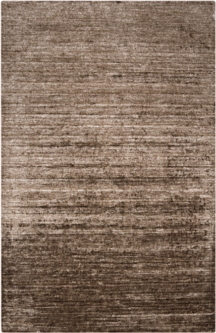 3.5' x 5.5' Distressed Brown Hand Knotted Rectangular Area Throw Rug - IMAGE 1