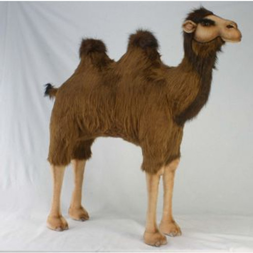"""39.25"""" Brown and Beige Handcrafted Camel Stuffed Plush Animal - IMAGE 1"""