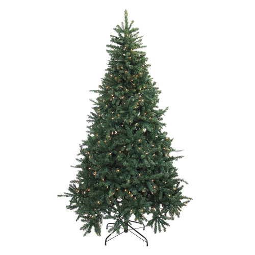 7.5' Pre-Lit Full Northern Pine Artificial Christmas Tree - Clear Lights - IMAGE 1