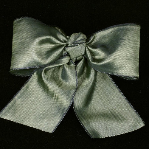 """Sage Green Solid Deco Moire Craft Ribbon 3"""" x 27 Yards - IMAGE 1"""