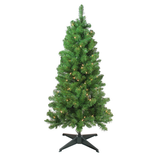 """4' x 25"""" Pre-Lit Noble Pine Artificial Christmas Tree- Clear Lights - IMAGE 1"""