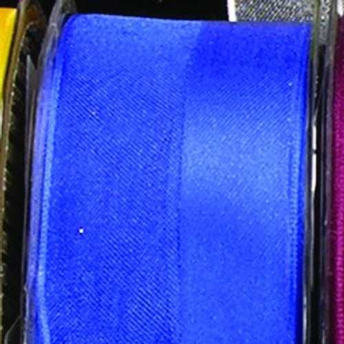 """Royal Blue French Wired Craft Ribbon 1.5"""" x 27 Yards - IMAGE 1"""