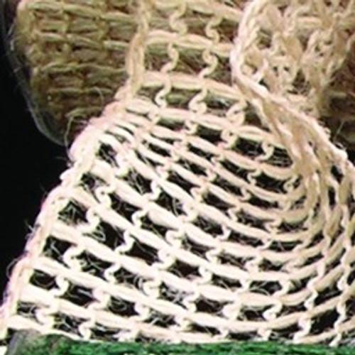 """Tan Brown Mesh Wired Craft Ribbon 2.5"""" x 22 Yards - IMAGE 1"""