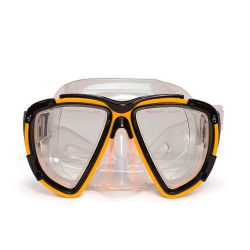 "6.5"" Yellow Kona Pro Mask Swimming Pool Accessory for Teen/Adults - IMAGE 1"