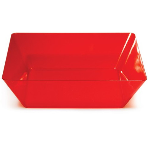 "Pack of 6 Red Solid Square Large Bowls 11"" - IMAGE 1"