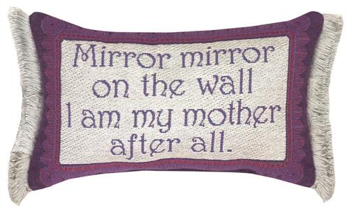 "12.5"" Purple and White ""Mirror"" Rectangular Throw Pillow - IMAGE 1"