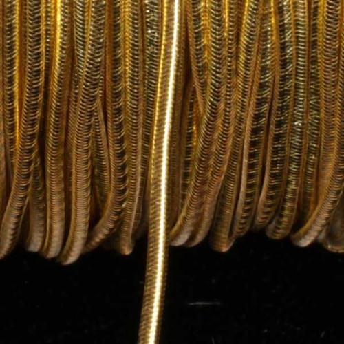 "Gold Braided Elastic Craft Cord 0.25"" x 218 Yards - IMAGE 1"