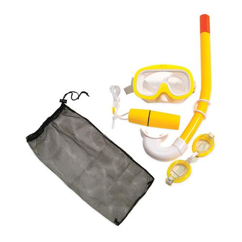 Yellow Junior Combo Swimming Pool Snorkel Set - IMAGE 1