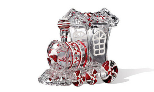 """Pack of 4 Icy Crystal Animated Decorative Train Candy Jars 7.3"""" - IMAGE 1"""