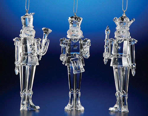 """Club Pack of 12 Clear Icy Christmas Nutcracker Ornaments 5.5"""" - IMAGE 1"""