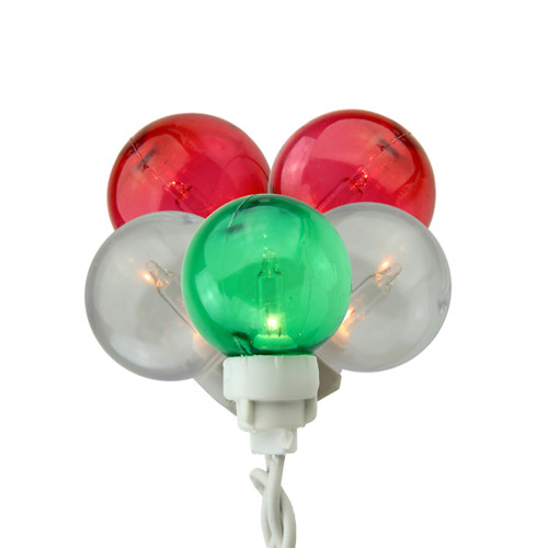 9.5' Green, White and Red Icicle Christmas Decoration Lights - IMAGE 1