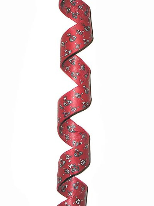 3' Red and Black Twisted Bandana Paisley Christmas Garland - Unlit - IMAGE 1