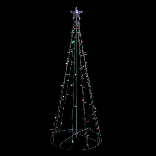 Costco Twinkling Christmas Tree: 5' Red & Green LED Lighted Outdoor Twinkling Christmas