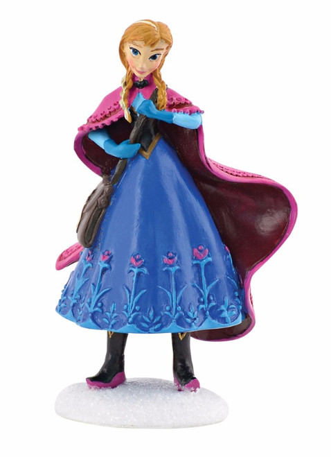 "3.25"" Blue and Magenta Purple Disney Frozen Anna Christmas Figurine - IMAGE 1"