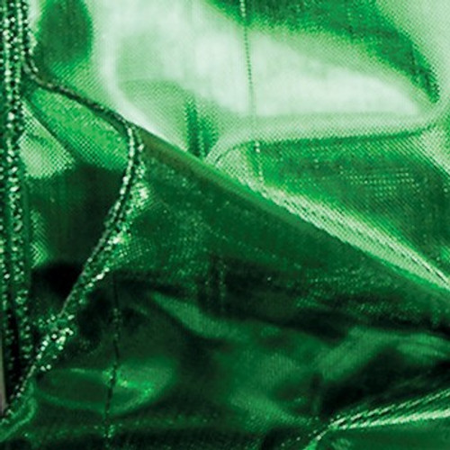 """Green Shiny Solid Wired Craft Ribbon 2"""" x 20 Yards - IMAGE 1"""