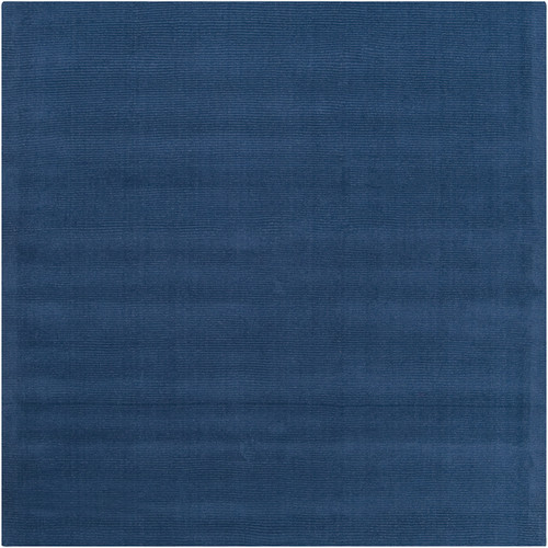 8' x 8' Federal Blue Contemporary Hand-Loomed Square Wool Area Throw Rug - IMAGE 1