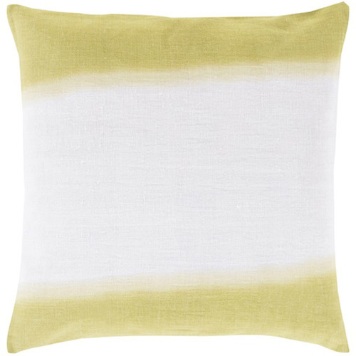"20"" Lime Green and White Double Dip Decorative Throw Pillow - Down Filler - IMAGE 1"