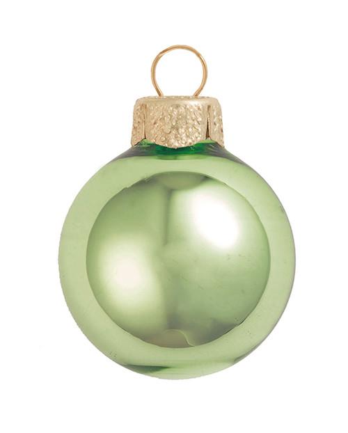 """8ct Lime Green Glass Shiny Christmas Ball Ornaments 3.25"""" (80mm) - IMAGE 1"""