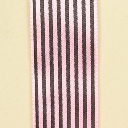 "Pink and Black Contemporary Craft Ribbon 1"" x 108 Yards - IMAGE 1"