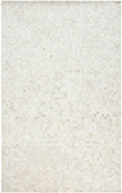 8' x 10' Ivory Contemporary Hand Crafted Area Throw Rug - IMAGE 1
