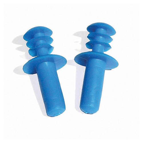 Blue Molded Circular Swimming Pool Ear Plugs - IMAGE 1