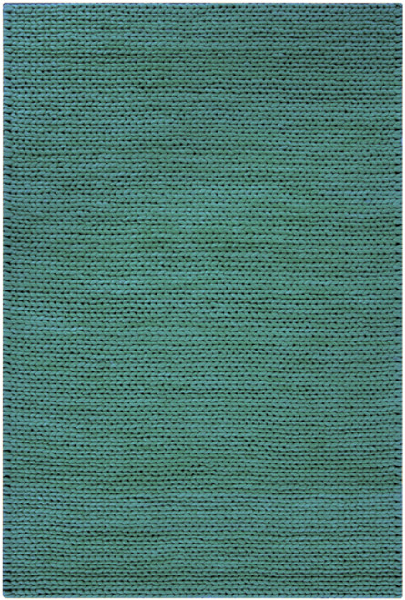 5' x 8' Solid Pale Blue Rectangular New Zealand Wool Area Throw Rug - IMAGE 1
