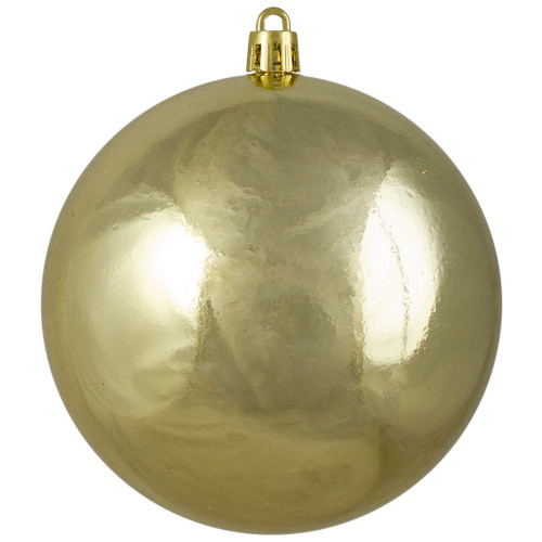 "Shiny Gold Shatterproof Christmas Ball Ornament 4"" (100mm) - IMAGE 1"